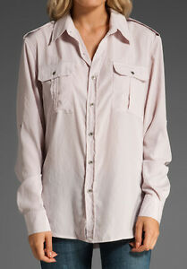 NWT WOMEN'S JOE'S JEANS THE SHIRT RELAXED DOLMAN SLEEVE BABY PINK SZ:XS MSRP$117