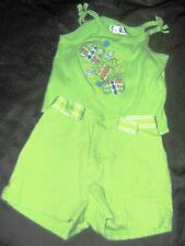 GIRLS SUMMER GREEN SLEEVELESS OUTFIT Size 3T/4T by The Children's Place
