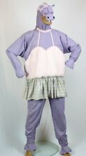 Hippo Costume Whimsical Adult 3Pc Purple Cloth Animal Suit W/ Built In TuTu M/L