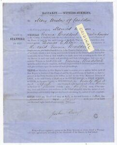 WATERHOUSES BRADDOCK 1873 BASTARDY SUMMONS SOCIAL HISTORY STAFFS STAFFORDSHIRE
