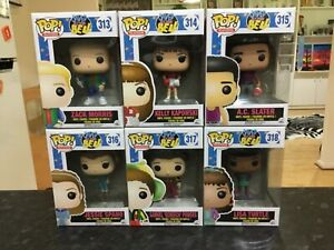 FUNKO POP! SAVED BY THE BELL - FULL SET 313 314 315 316 317 318 - NEAR MINT RARE