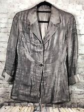 49770bd80457c2 VTG Gianfranco Ferre Silver Womens Wool Silk Blend Blazer Jacket Size 4  Italy