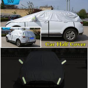 1Pcs PE Film Half Cover Windproof Dust Waterproof UV Sun Shade Shield For SUV