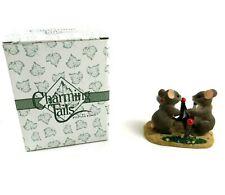 Charming Tails Fitz Floyd Two Love Tennis Mice Figure Original Box
