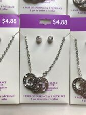 Lot of 10 Circles Forever Love Friends Necklaces and Earrings Set  New