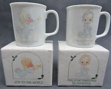 Vtg Precious Moments Christmas Holiday Porcelain Mug Lot 25135 Enesco 1985
