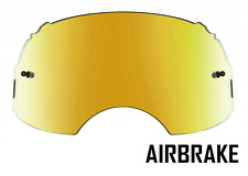 GOGGLE-SHOP GOLD MIRROR LENS to fit OAKLEY AIRBRAKE MOTOCROSS GOGGLES