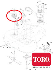 """TORO Timemaster 20975 30"""" Cutter Deck Cinghia Di Distribuzione Ruota Dentata 121-9100 549 V"""