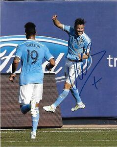 New York City FC David Villa Autographed Signed 8x10 MLS Photo COA E
