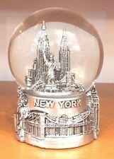80 mm New York City Snow Globe, Brooklyn Bridge, Statue of Liberty, Nyc Souvenir