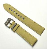 Original Hamilton Khaki Field 20mm Beige Canvas Watch Band Strap H600694100