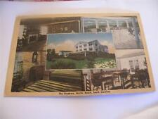 VINTAGE POSTCARD LINEN THE BREAKERS MOTEL  MULTI VIEW  BEACH SC POSTED 1948