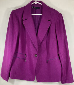 Anne Klein Women's Plus Size Purple Jacket Blazer NWT $189 size 24W FREE SHIP