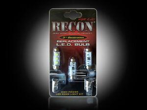 Recon LED Dome Light Kit 99-07 Chevy Silverado/GMC Sierra Bulb Replacement