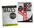 Advanced Mazes  Extreme Dot to Dot Book Kids Adults Activity Books Set of 2 NEW