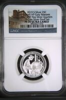 2019 S First .999 Fine Silver Quarter 25c Lowell Early Releases NGC PF70 U.C ATB