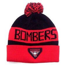 AFL ESSENDON BOMBERS TRADITIONAL BAR BEANIE - BRAND NEW