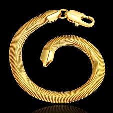 18K Gold Plated Snake Chain Bracelet Lobster Clasp L68