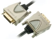 PROWIRE HQ 5m DVI-Kabel DVI-D Dual Link für PC TFT TV LED LCD Plasma Beamer etc
