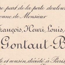 Xavier Armand Henri Louis De Gontaut-Biron 1897 Comte