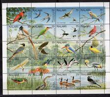 Malawi birds 1992 souvenir sheet MNH.