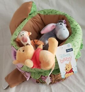 Basket Plush Bear Tiger Donkey Stuffed Animals Inside Tree Stump Play House New