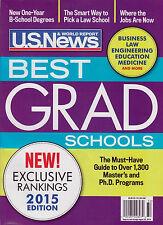 U.S. NEWS MAGAZINE : BEST GRAD SCHOOLS OF 2015 - NEW - FREE SHIP!
