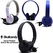 Skullcandy Uproar On ear Headphones with Built In Mic White Black Blue NEW