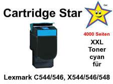 XXL Toner Cyan für Lexmark C544 C546 X544 X546 X548 (4000 Seiten)