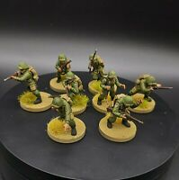 Painted 28mm Bolt Action US Airborne ×8 ww2