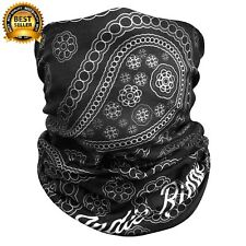 Motorcycle Face Mask Microfiber Polyester Breathable Lightweight Double  Sided