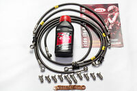 Ducati 899 Panigale ABS Front / Rear Brake Lines Hel Performance + Brembo Fluid
