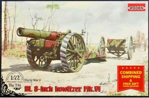 Roden 716 - 1/72 -British BL 8-inch Howitzer Mark VI plastic model kit