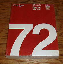 1972 Dodge Chassis Service Shop Manual 72 Challenger Charger Dart Coronet
