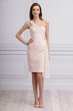 Monique Lhuillier Bridesmaid 450097 Blush One Shoulder Dress - NWT Size 10 $328