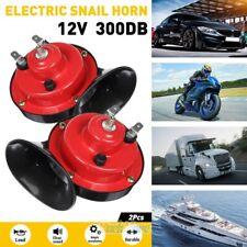 2 Set 12v 300db Super Loud Train Horn Waterproof For Motorcycle Car Truck Boat