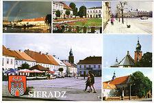 Polska-Sieradz (Schieratz) - Rynek-Kosciol Farny-KLASZTOR-Herb