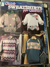 Quick Sweatshirts For Quilters, Designs By Beth Wheeler, Quilted Sweatshirt Book
