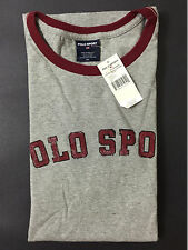 NEW OLD STOCK VINTAGE RALPH LAUREN POLO SPORT SPELLOUT TSHIRT GREY XL 1992 L XXL