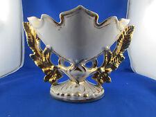 ancien vase d eglise mariée porcelaine paris cornet  doré 19e