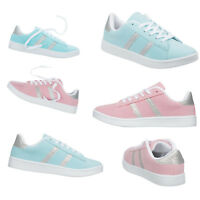 NEW Ladies Girls Womens Trainers Size 3 to 8 UK - Pink or Sky Blue Pumps - 876C