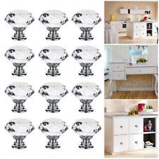 12 armoire cristal commode bouton de porte/tiroir forme de diamant poignées
