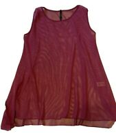 IC by Connie K Women's Top Size L  Pink Mesh