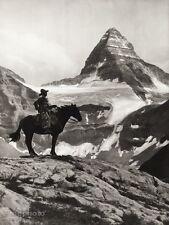 1934 Vintage 11x14 ~ CANADA ~ Mount Assiniboine Native Horse Landscape Photo Art