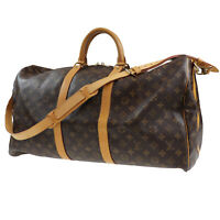 LOUIS VUITTON Keepall Bandouliere 55 Boston Hand Bag Monogram M41414 Auth #Z624