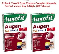 2xPack TAXOFIT Eye Vitamin Complex Mineral  Perfect Vision 60 Capsules *GERMANY*