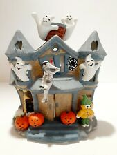 PartyLite Halloween Haunted Tealight House Candle Holder Retired P7311 with box