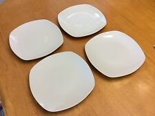 Square Porcelain Salad Plates. Set Of 4. Tabletops Gallery. Nice. New.