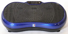 REBOXED 2700W Crazy Fit Vibration Massage Plate with Touch Panel Blue no remote