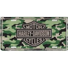 Harley-Davidson Camo License Plate Official   Camouflage Logo Sign Tag